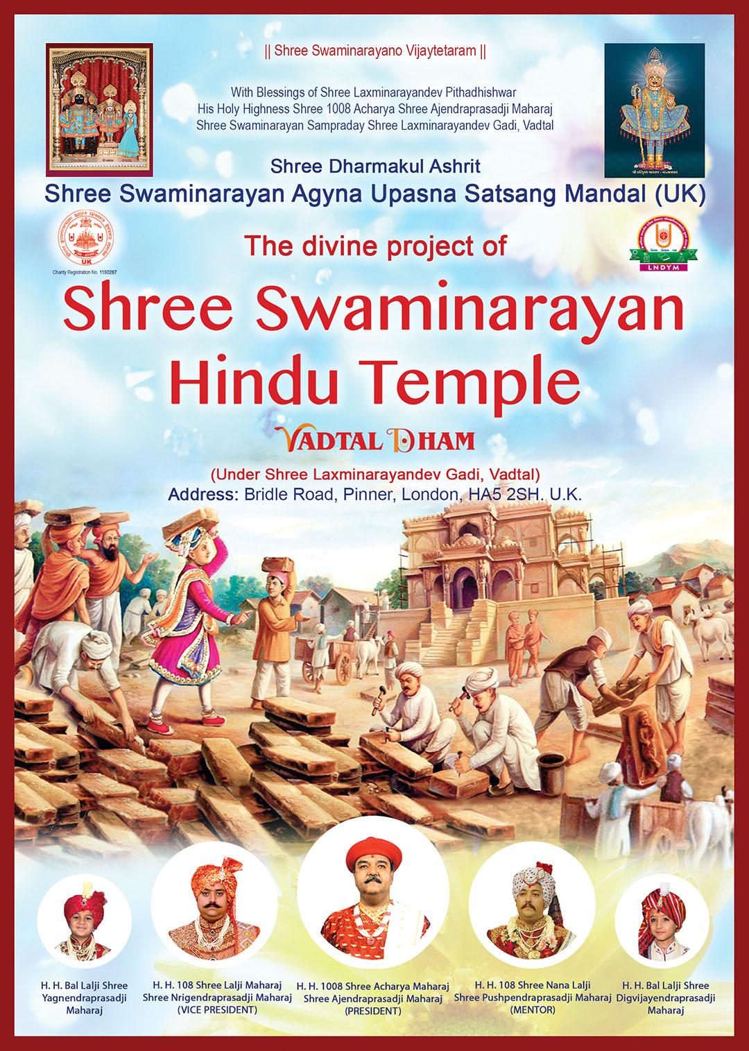 Shree Swaminarayan Hindu Temple, London, UK